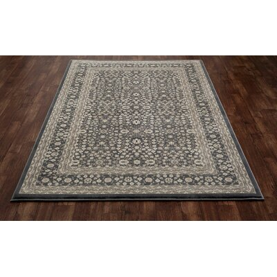 Kensington Machine Woven Gray Area Rug Rug Size: 7' x 10'