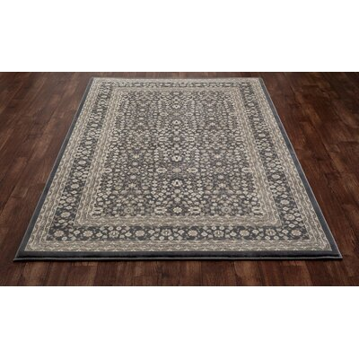 Kensington Machine Woven Gray Area Rug Rug Size: 9 x 12