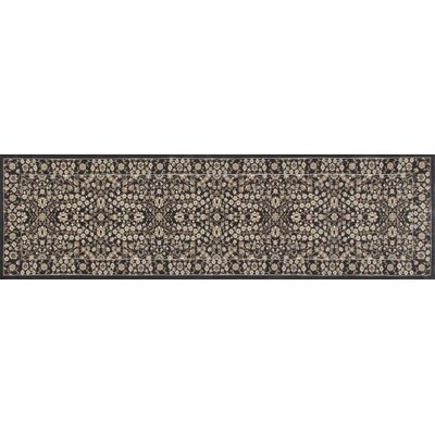 Kensington Machine Woven Gray Area Rug Rug Size: Runner 2 x 8