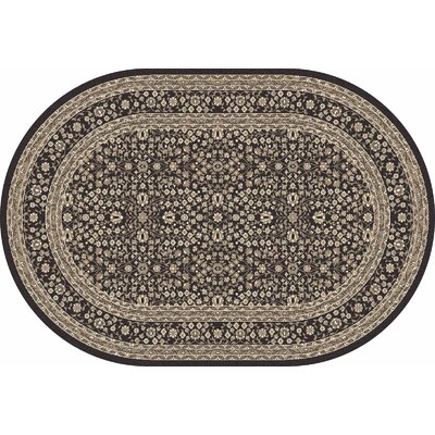 Kensington Machine Woven Gray Area Rug Rug Size: Oval 5 x 8