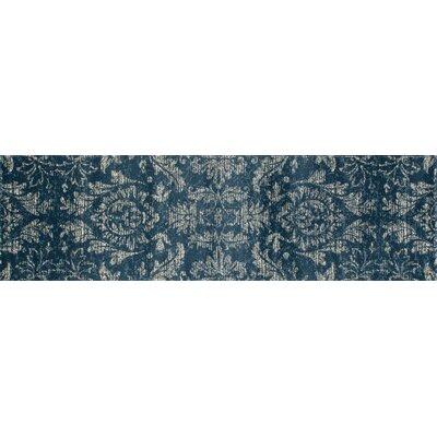 Arabella Blue Area Rug Rug Size: Runner 2 x 8