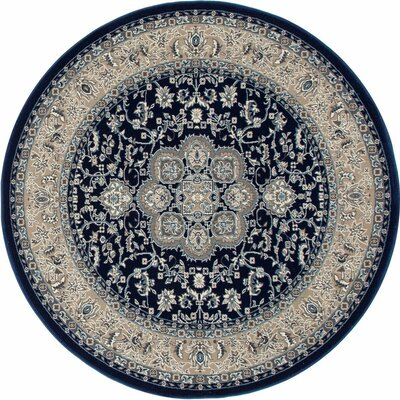 Lang Navy Area Rug Rug Size: ROUND 53