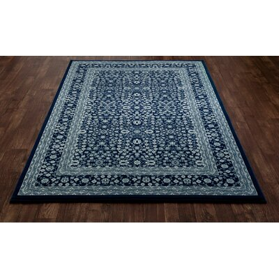 Lang Navy Area Rug Rug Size: 53 x 77