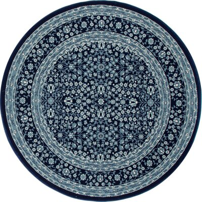 Lang Navy Area Rug Rug Size: ROUND 710