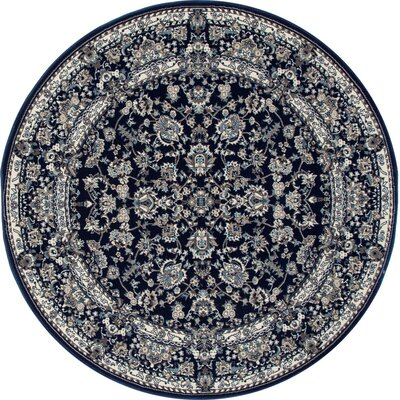 Lang Navy Area Rug Rug Size: ROUND 5'3
