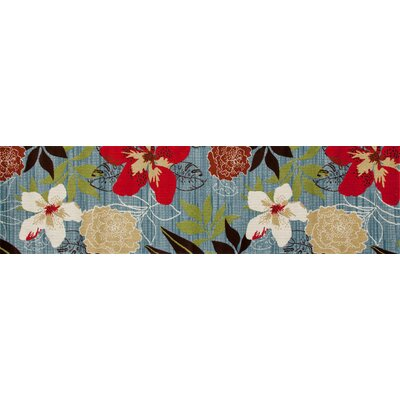 Vasser Tropical Blue/Red Indoor/Outdoor Area Rug Rug Size: Runner 22 x 81