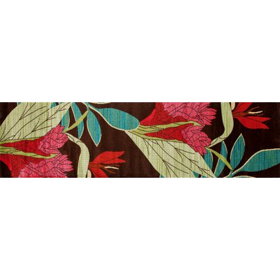Vasser Brown/Red Indoor/Outdoor Area Rug Rug Size: Runner 22 x 81