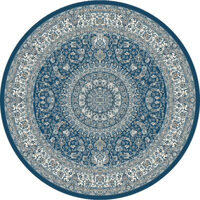Lang Blue Area Rug Rug Size: ROUND 710