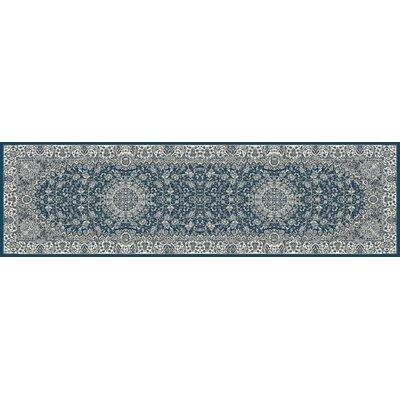 Lang Blue Area Rug Rug Size: Runner 22 x 77