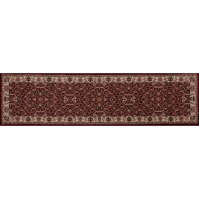 Landy Burgundy/Cream Area Rug Rug Size: Runner 22 x 82