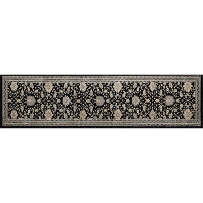 Highland Black/Cream Area Rug Rug Size: Runner 22 x 82