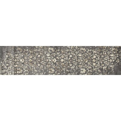 Highland Gray/Cream Area Rug Rug Size: Runner 22 x 82