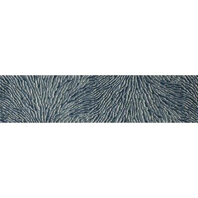 Dexter Blue/Ivory Area Rug Rug Size: Runner 22 x 82