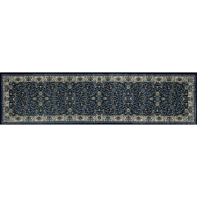Landy Navy/Tan Area Rug Rug Size: Runner 22 x 82