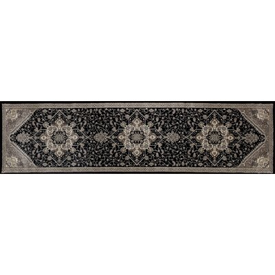 Dexter Black/Gray Area Rug Rug Size: Runner 22 x 82