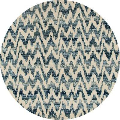 Burgoyne Blue Area Rug Rug Size: ROUND 53
