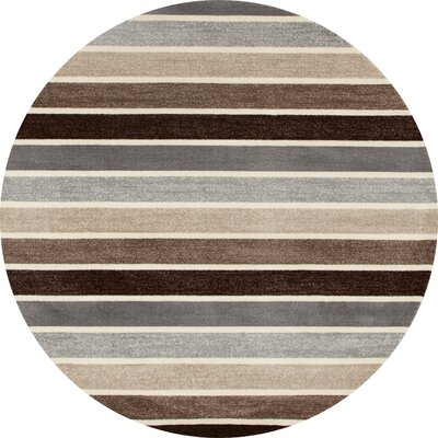 Vasques Brown Area Rug Rug Size: ROUND 710