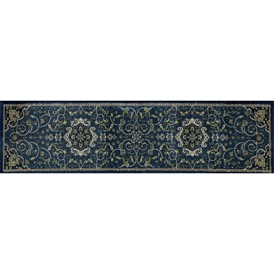 Landy Peacock Blue Area Rug Rug Size: Runner 22 x 82