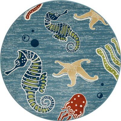 Ceasar Deep Sea Indoor/Outdoor Area Rug Rug Size: 27 x 311