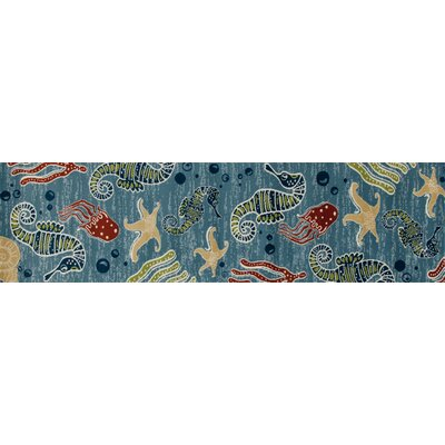 Ceasar Deep Sea Indoor/Outdoor Area Rug Rug Size: Runner 22 x 81