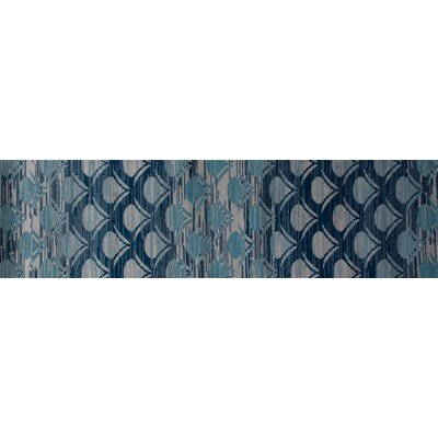 Seaport Waves Gray Indoor/Outdoor Area Rug Rug Size: 53 x 77