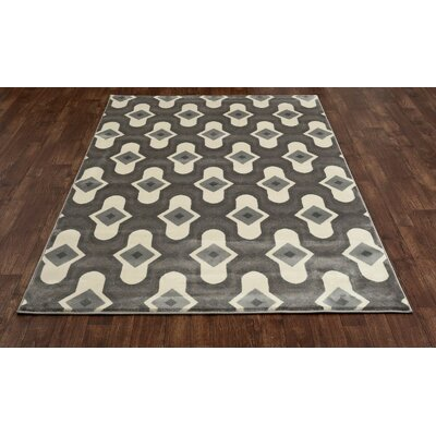 West Hewish Gray/Cream Area Rug Rug Size: 92 x 126