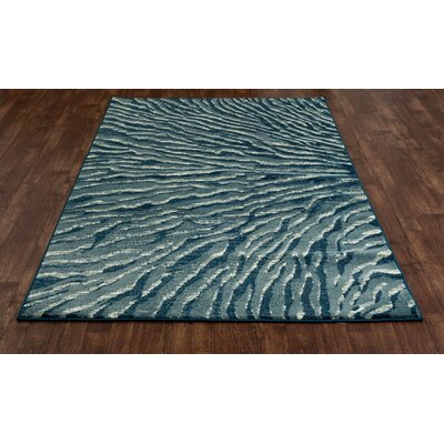 Cearley Blue/Ivory Area Rug Rug Size: 22 x 37