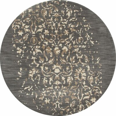 Highland Gray/Cream Area Rug Rug Size: ROUND 53