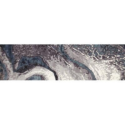 Mcconnell Aqua Blue/Cream Area Rug Rug Size: Runner 27 x 94
