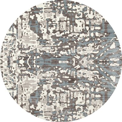 Mcconnell Cream/Blue Area Rug Rug Size: ROUND 710