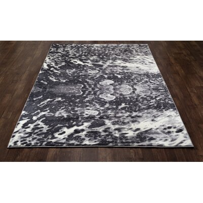 Mcconnell Dark Gray Area Rug Rug Size: 92 x 124