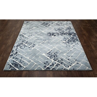 Mcconnell Aqua Area Rug Rug Size: ROUND 53