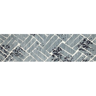 Mcconnell Aqua Area Rug Rug Size: Runner 27 x 94