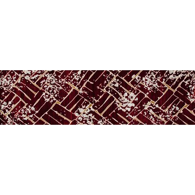 Mcconnell Red Area Rug Rug Size: Runner 27 x 94