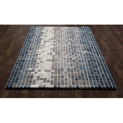 Mcconnell Blue/Gray Area Rug Rug Size: 92 x 124