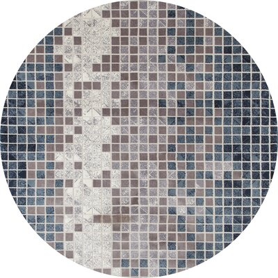 Mcconnell Blue/Gray Area Rug Rug Size: ROUND 710