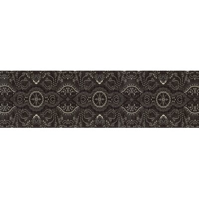Castellano Black Area Rug Rug Size: Runner 22 x 77