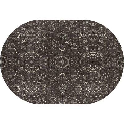 Castellano Black Area Rug Rug Size: OVAL 53 x 81