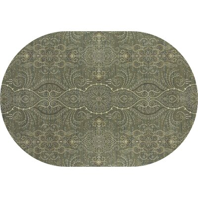Castellano Light Green Area Rug Rug Size: OVAL 53 x 81