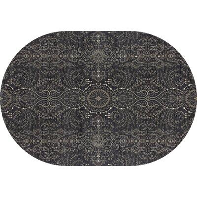 Castellano Gray Area Rug Rug Size: OVAL 67 x 910