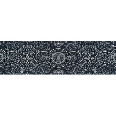 Castellano Blue Area Rug Rug Size: Runner 22 x 77