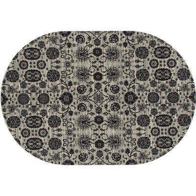 Castellano Cream Area Rug Rug Size: OVAL 53 x 81