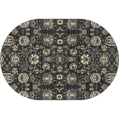 Castellano Dark Gray Area Rug Rug Size: OVAL 67 x 910