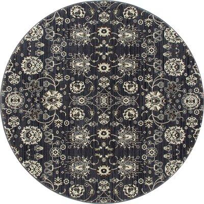 Castellano Dark Gray Area Rug Rug Size: ROUND 710