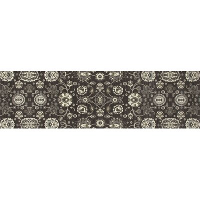 Castellano Gray/Cream Area Rug Rug Size: Runner 22 x 77