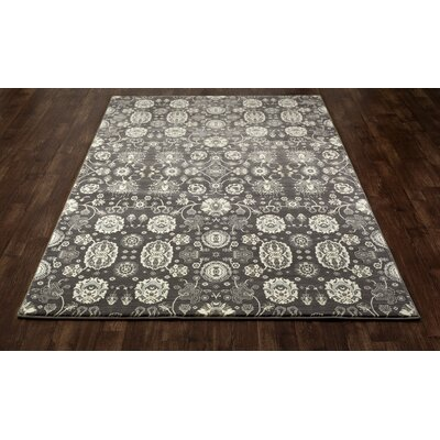 Castellano Gray/Cream Area Rug Rug Size: OVAL 53 x 81