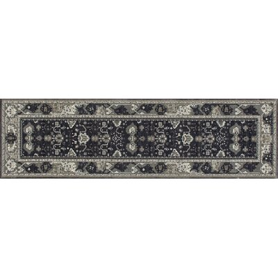 Castellano Gray/Blue Area Rug Rug Size: Runner 22 x 77