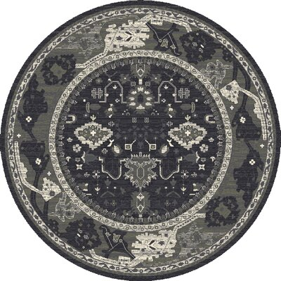 Castellano Gray/Blue Area Rug Rug Size: ROUND 710