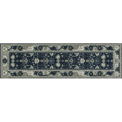 Maison Navy Blue/Cream Indoor/Outdoor Area Rug Rug Size: Runner 22 x 77