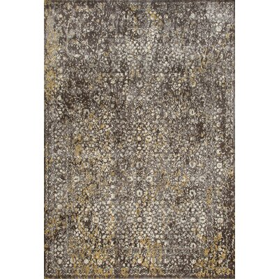 Devay Brown/Mushroom Area Rug Rug Size: 53 x 77